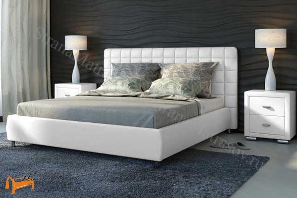 белые кровати двуспальные фото